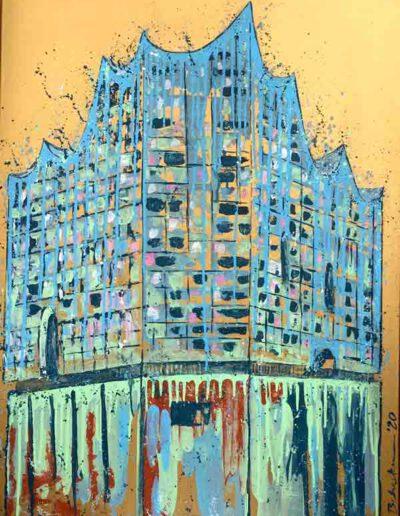 Elbphilharmonie Gold 75x100
