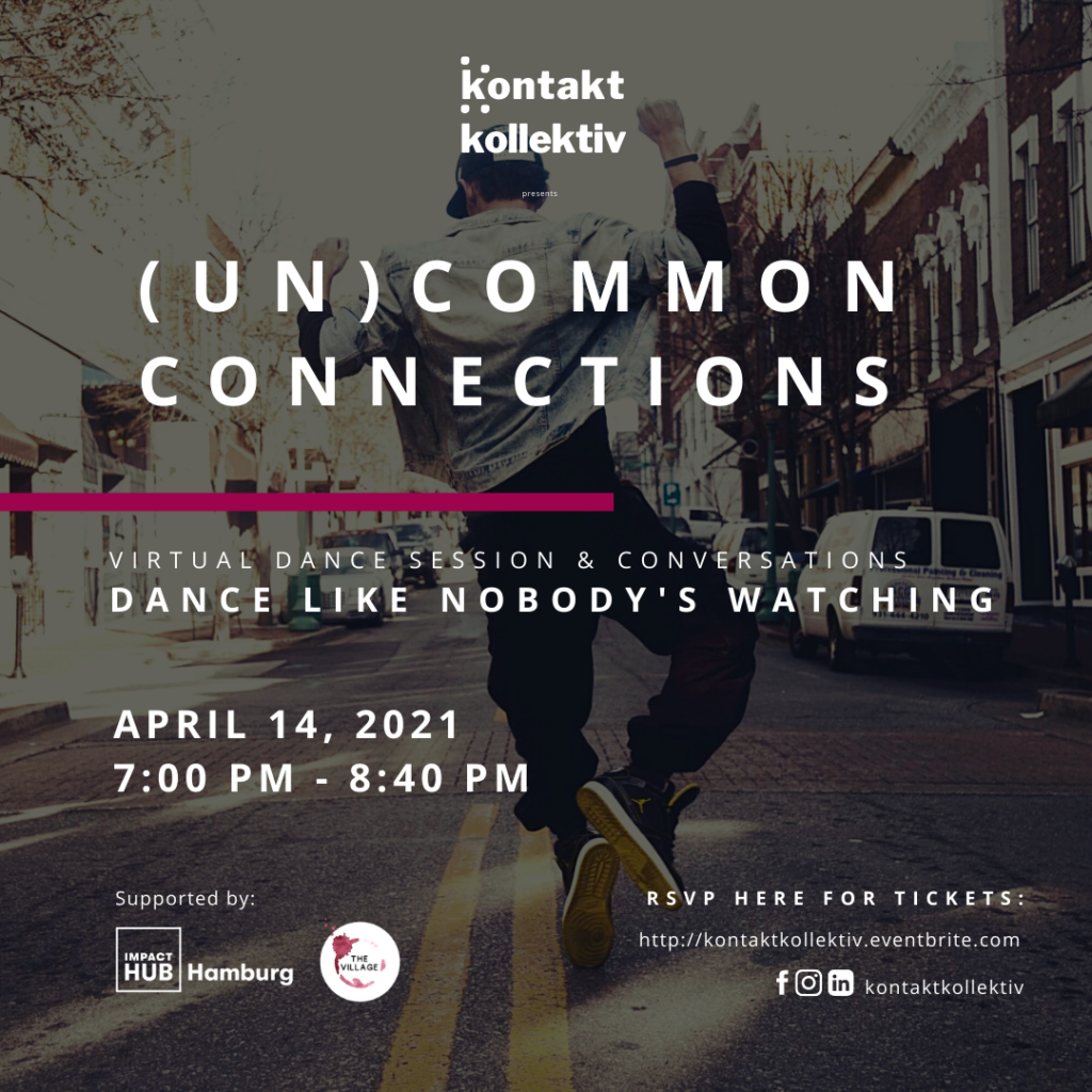 Dance like nobody's watching – our next event with Kontakt Kollektiv is coming up!